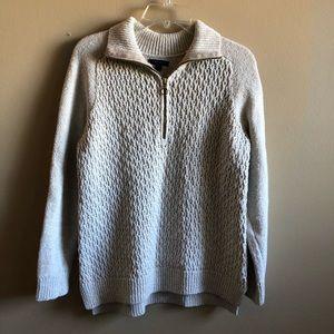 Tomy Hilfiger Knit Sweater Top Zipper Long Sleeve